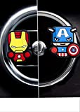 Lot de 2 désodorisants fantaisie pour voiture inspirés deMarvel Avengers, Game of Thrones, Deadpool, Antman, Star Wars, Batman, Superman, Hulk, Thor, Iron Man, Captain America, Black Widow, Hawkeye et Tortues Ninja-
