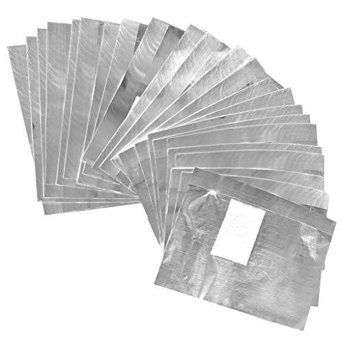 Tongcloud 400pcs Nail Polish Remover Nail Foil Wraps Nail Gel Remover Soak Off Foils Cotton Pads Gel Polish Remover Soak Off Foils Gel Nail Polish Remover Wrap (2.5x3.5, Sliver)