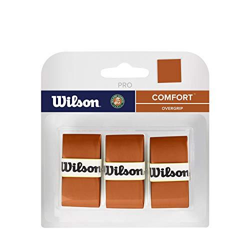 Wilson Roland Garros PRO Overgrip, WR8402101001 Set di Overgrip, 3 Pezzi, Arancione (Red Clay)