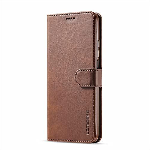 TTNAO Funda para Xiaomi Redmi Note 10 Pro MAX con 1 Piezas Protector de Pantalla,Cartera Caso Piel Carcasa Ranura Tarjetas Cover Plegable Anti-Arañazos Bumper Antichoque Case-Marrón