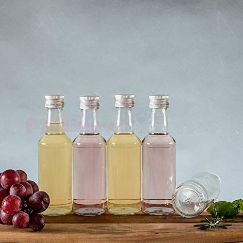 casavetro 16, 24, 30 Stück Kleine Saftflaschen Likörflaschen Smoothie Schnapsflaschen Flaschen mit Schraubverschluss 0,2 Liter (16 Stück)