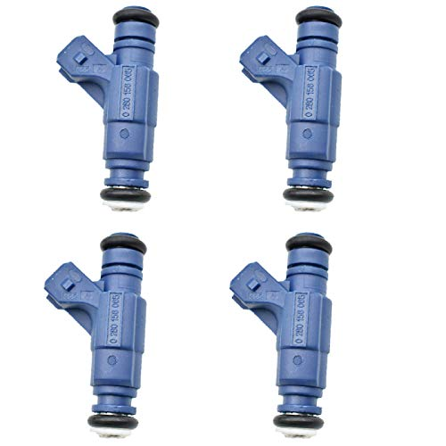 BYWWANG 4 Piezas inyectores de Combustible Originales para Coche Son eficientes y duraderos 06B133551M 0280156065, para Audi A4 A6 B5 B7 B6 C5