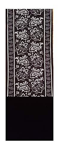 HAD Fleece Echarpe multifonctionnel avec laine polaire PAISLEY FLOWER BLACK/BLACK