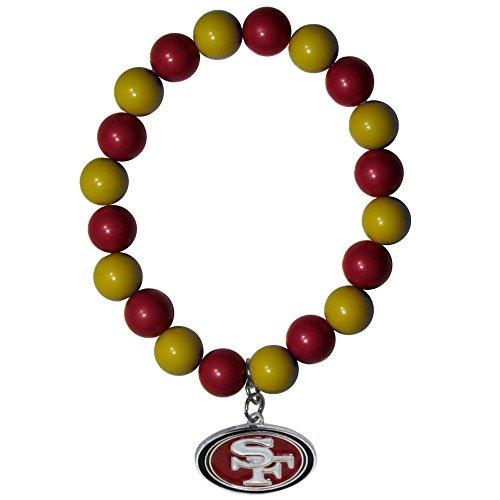NFL Siskiyou Sports Womens San Francisco 49ers Fan Bead Bracelet One Size Team Color