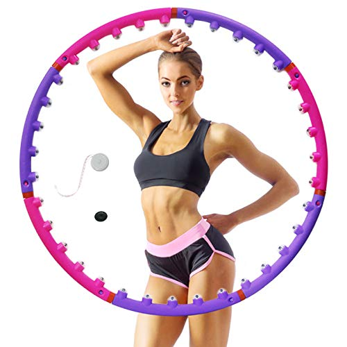 Zrgwl Hula Hoop per adulti e bambini con 8 sezioni regolabili e staccabili, da donna, per la perdita di peso e per lo sport, corda per saltare Hula Hoop in plastica