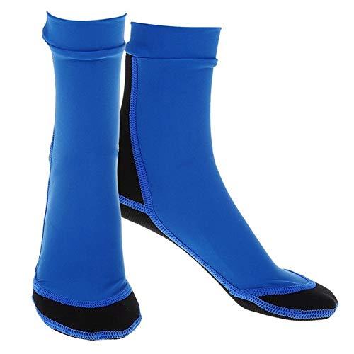 Heinside 1.5mm Buceo Snorkeling Natación Calcetines Calzado de Neopreno Surf Botas Durable (Color : S Blue)