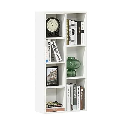 7 COMPARTIMENTOS: Esta estantería modular cuenta con 7 compartimentos de diferentes tamaños que proporcionan un amplio espacio para satisfacer diferentes necesidades de almacenamiento. Por ejemplo, guardar libros, juguetes, ropa y más MATERIAL RESIST...
