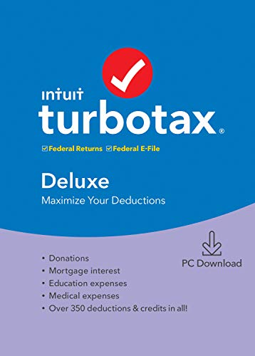 [Old Version] TurboTax Deluxe 2019 Tax Software [PC Download]