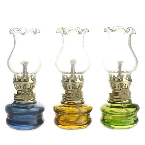 """Purismo Estilo  - Lámpara de cristal de queroseno de 4.25 \""""(juego de 3)"""