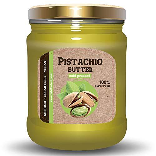 RAW Pistazien Nuss Butter - Alle Natürlichen Ungesalzenen Samen zum Frühstück - KETO - GVO-Frei - Ohne Zuckerzusatz - Veganes Essen