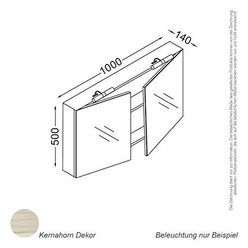 Kzoao Spiegelkast 100 cm Kernahorn