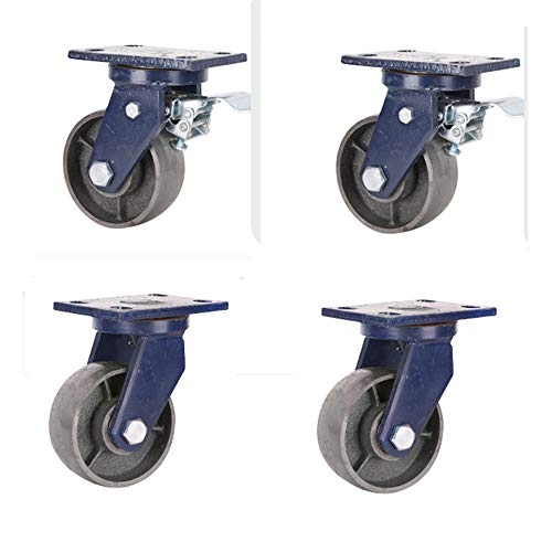 Caster Ultra-Heavy Iron Wheels Cast Iron Solid Wheels Strong Load Capacity All-Iron