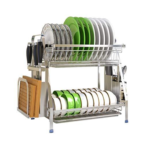 Xyhcs Acero Inoxidable Estante for Platos, vajilla de Uso doméstico y Dish Tendedero, Escurrir Estante for Platos, Caja de almacenaje, Multi-Capa de Cocina Rack (Shape : 1)