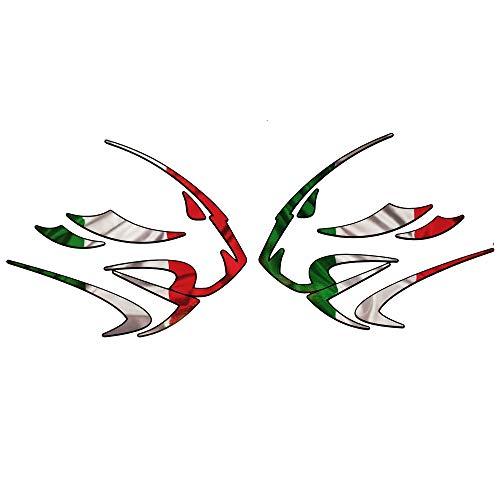 APRILIA LEONES Cabeza BANDERA ITALIANA Diseño Pegatinas DIBUJOS x2 pequeño
