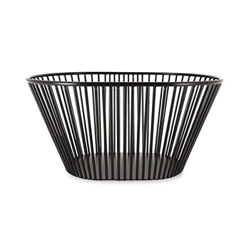 Visiodirect Corbeille de Fruit en métal Noir - 32 x 23 cm