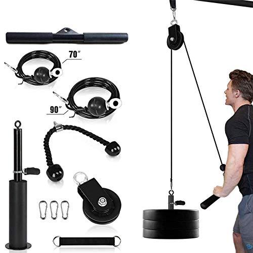 ZZQH Tríceps Cuerda Máquina De Cable De Polea Equipo De Gimnasio En Casa con Pasador De Carga Ideal para Combinaciones De Entrenamiento De Fuerza del Brazo