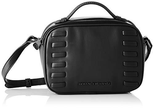 ARMANI EXCHANGE Small Crossbody Bag - Borse a tracolla Donna, Nero (Black), 14x7x19 cm (B x H T)