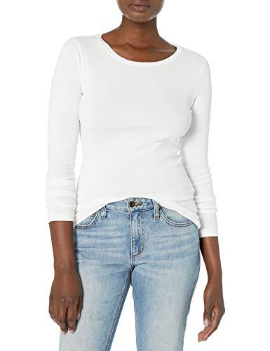 J.Crew Women's Plus Size Slim Perfect Long-Sleeve T-Shirt, White, 3X