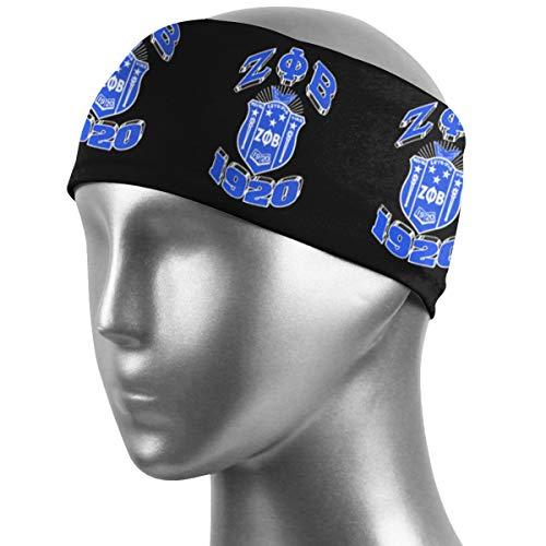 Juhucc Zeta Phi Beta Schweiß-Stirnband, Sport-Armband und Sport-Schweißbänder, Feuchtigkeitstransport, für Männer und Frauen, Herren, schwarz 1, Einheitsgröße