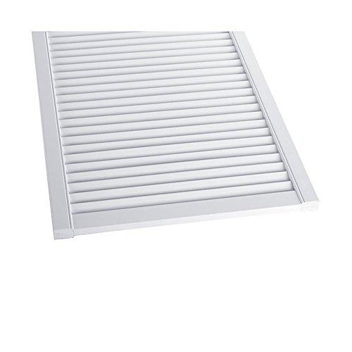 Offene Lamellentür Schranktür Heizkörperverkleidung Kiefer weiß lackiert 690 x 394 x 21 mm