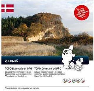 Garmin Topo Denmark V4 Pro Topog 矢量图,黑色,均码
