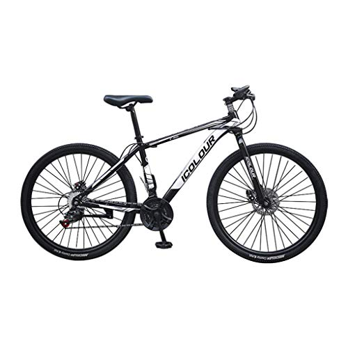 Outroad Mountain Bike,26in Carbon Steel Mountain Bike with 24 Speed ​​Dual Disc Brakes Full Suspension Non-Slip Mountain Bike Bike, for Men Adults Teen