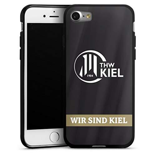 DeinDesign Silikon Hülle kompatibel mit Apple iPhone 8 Case schwarz Handyhülle Fanartikel THW Kiel Handball