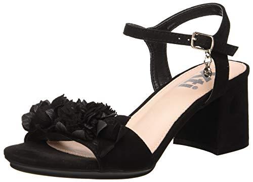 XTI 35193, Scarpe col Tacco con Cinturino Dietro la Caviglia Donna, Nero (Nero Nero), 36 EU