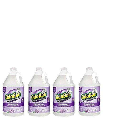 OdoBan Multipurpose Cleaner Concentrate, 4 Gallons, Lavender Scent - Odor Eliminator, Disinfectant, Flood Fire Water Damage Restoration, Model:911101