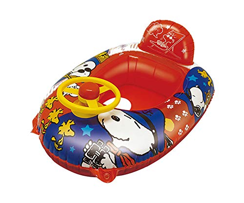 スヌーピー浮き輪足入れぷちゃぷちゃボート子供用レッドこども女の子男の子海プール水遊び海水浴うきわビーチグッズ