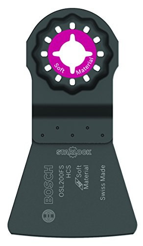 BOSCH Starlock Multi Tool Scraper, Long Oscillating Tool Blade for Removing Caulk and Sealants, Carbon, 2 Width (OSL200FS)