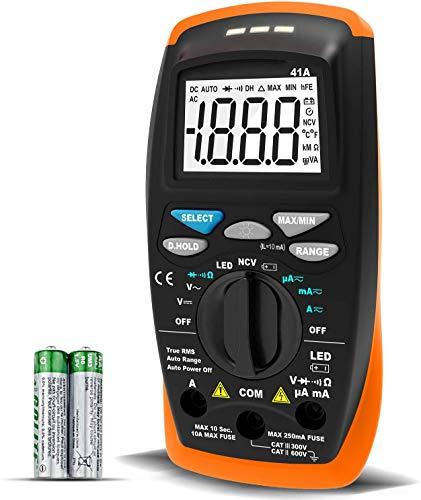 Multimetro Digital Profesional AP-41A Voltímetro Amperímetro AC/DC Medidor de Resistencia con Rango...