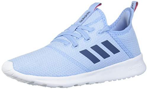 adidas Kids' Cloudfoam Pure Running Shoe, Blue/Ink/Real Pink, 5 Medium US