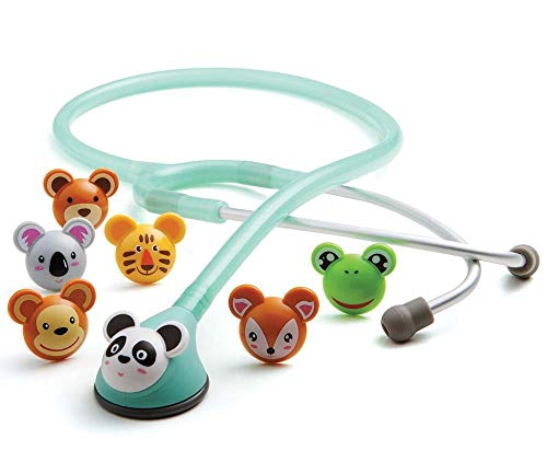 ADC - 618SF Adscope Adimals 618 Pediatric Clinician Stethoscope With Tunable AFD Technology, Lifetime Warranty, Seafoam
