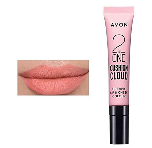 Avon - Cojín 2 en 1, color cremoso de labios y mejillas – 10 ml – Peluche en melocotón