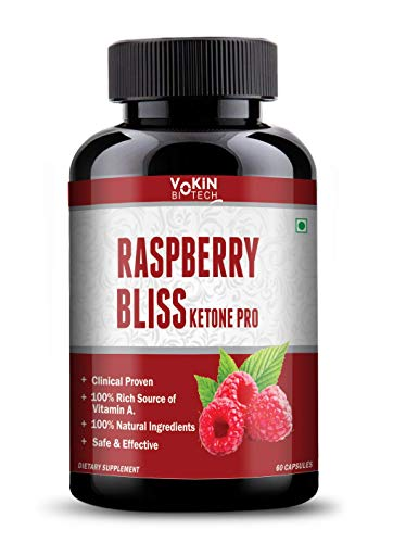 Vokin Biotech Raspberry Bliss Ketone Pro capsules with weight loss supplement and Ultimate fat burner (60 capsules) (raspberry)