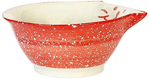 XUEXIU New Wave Soup Plate Saladier Bols Creative Personnalité Fruits Saladier Soupe en Céramique Bowl Maison Enfants Bowl Vaisselle Mignon Bol De Riz Perfect for Catering and Home
