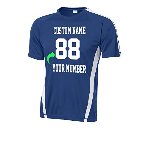 Just Customized Customize Your Team Jersey with Name and Number Soccer Volleyball Royal White