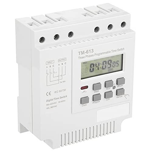 Yisenda Relé de Tiempo, relé de Tiempo Digital Relé de Tiempo programable, para Bomba de Agua Interruptor de Control de Tiempo Interruptor Inteligente Motor trifásico