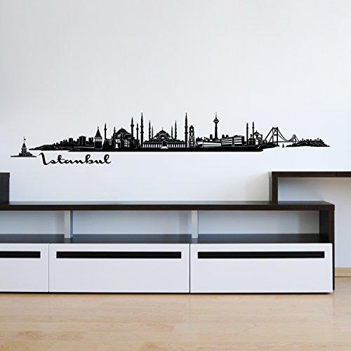 Wandkings Skyline - Deine Stadt wählbar - Istanbul - 125 x 17 cm - Wandaufkleber Wandsticker Wandtattoo