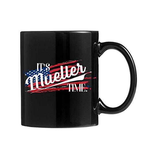 N\A Mueller Time Tazas Anti Donald Trump café Regalo pami