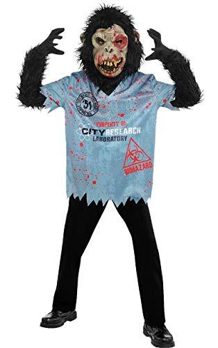 Fancy Me Disfraz de Mono de Zombie para niños y Adolescentes, 4 ...