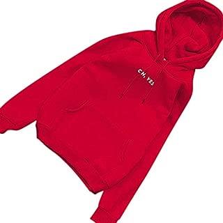 FidgetGear Women's Warm Fleeced Hoodie Casual Long Sleeve Loose Lady Hooded Pullover Sweatshirts Tops