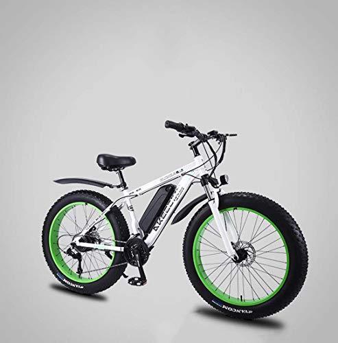 Adulte Fat Tire électrique VTT, 36V Batterie au Lithium vélo électrique, à Haute résistance en Alliage d'aluminium 27 Pouces Vitesse 26 4.0 Pneus Bikes Neige,B,55KM