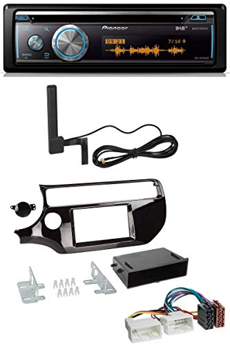 caraudio24 Pioneer DEH-X8700DAB Bluetooth DAB MP3 USB CD Autoradio für Kia Rio UB ab 2015 Piano-schwarz