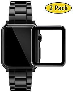 GeeRic Protector de Pantalla Compatible para Apple Watch 42mm,3D Curva 9H Dureza Cubierta Completa HD-Clear Cobertura Vidr...