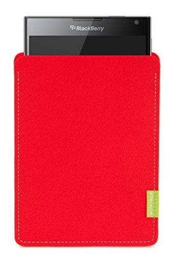 WildTech Sleeve für BlackBerry Passport Hülle Tasche - 17 Farben (Handmade in Germany) - Hellrot