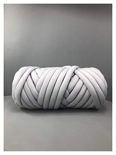 Thick Yarn,Arm Knitting 250 g de Hilo de algodón de algodón de algodón de Punto de Tejido Vegano Hilado Gigante Hilo voluminoso Big algodón Taupe Chunky Knit Blid Braid (Color : Light Grey)