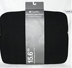 Tuari Black Neoprene Laptop Sleve -- Fits Most Laptops Up to 15.6