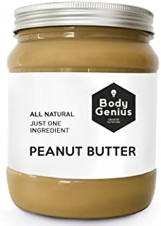 BODY GENIUS Smooth Peanut Butter. 1000g. Crema de Cacahuete